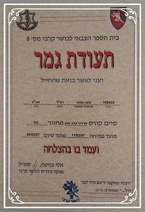 диплом армии обороны Израиля для преподавателя по Крав Мага