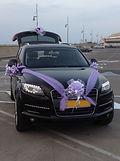 קישוט רכב לחתונה מס'7