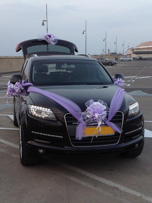 קישוט רכב לחתונה | מס' 7