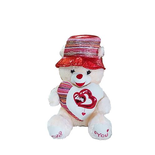 דובי-לבן-בינוני-עם-כובע-מפוספס