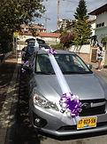 קישוט רכב לחתונה מס'22