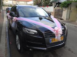 קישוט רכב לחתונה אלגנטי
