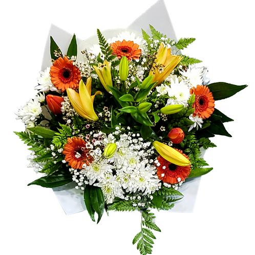 זר אושר כתום - משלוח פרחים