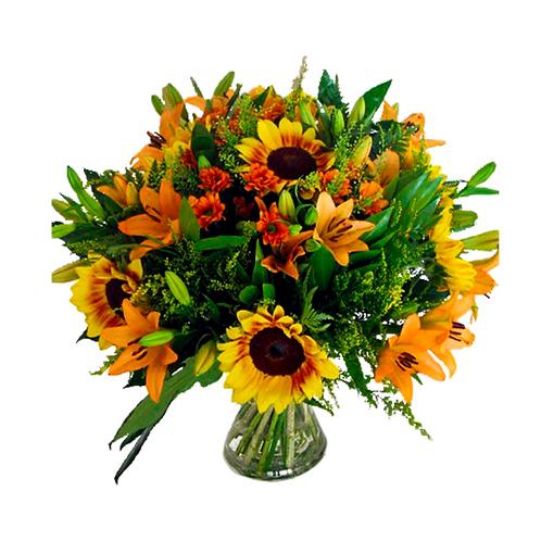 זר קסם אביבי - משלוח פרחים