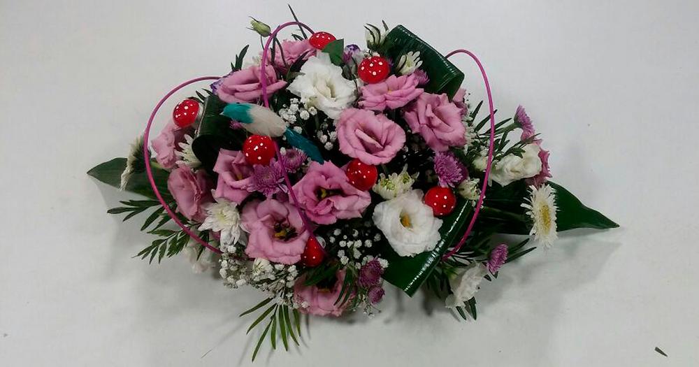 סידור פרחים טריים