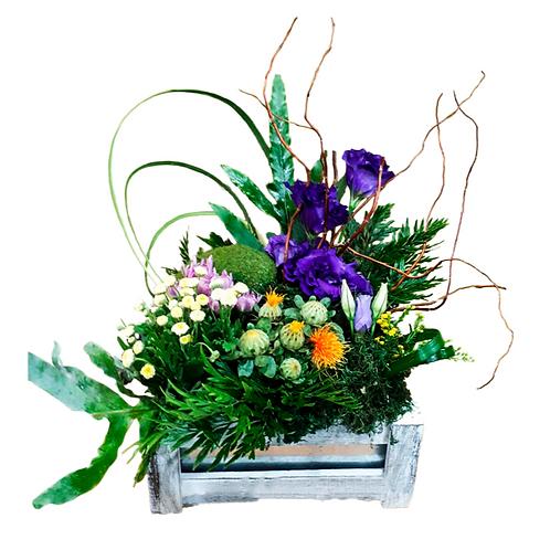סידור פרחים טריים בשם איקבנה
