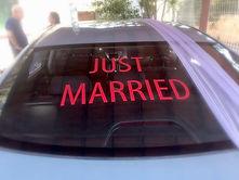 קישוטי רכב לחתונה באותיות מס'72