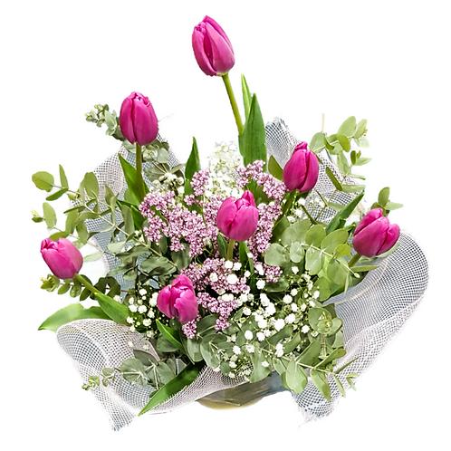 זר צבעונים ורודים - משלוח פרחים