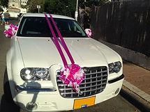 קישוט רכב לחתונה מס'5