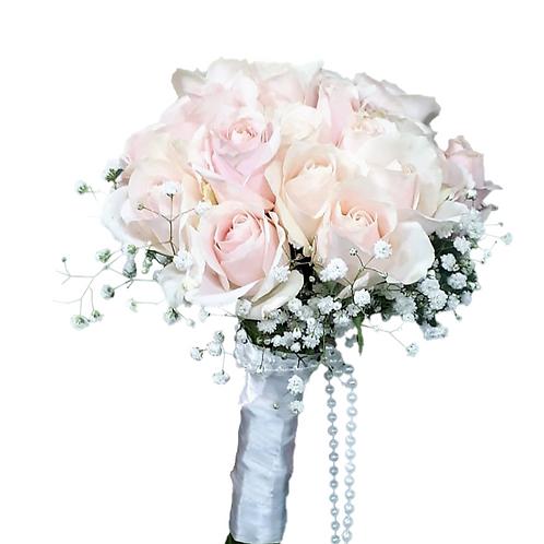 זר כלה 11 מפרחים טריים בשזירה מקצועית