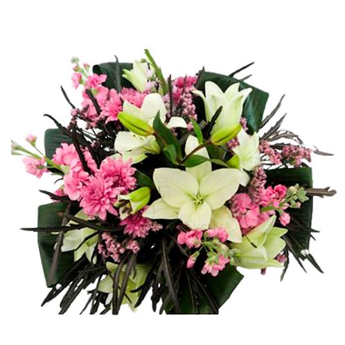 זר אהבה ורודה - משלוח פרחים