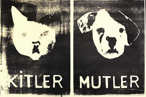 Kitler/Mutler - Silkscreen Print
