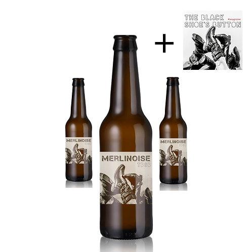 ''La Merlinoise'' TBSB | Pack de 4 bières ambrées + CD