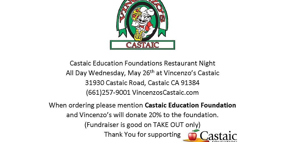 Restaurant Night Fundraiser - Vincenzo's Castaic