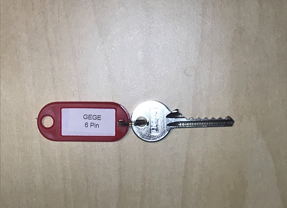 GeGe 6 Pin Bump Key