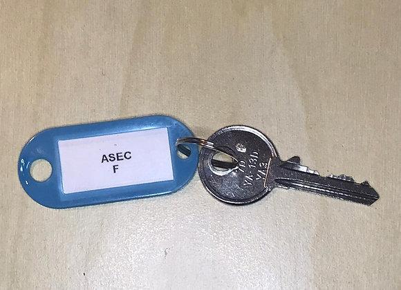Asec Keyed Alike Replacement Padlock Key -F