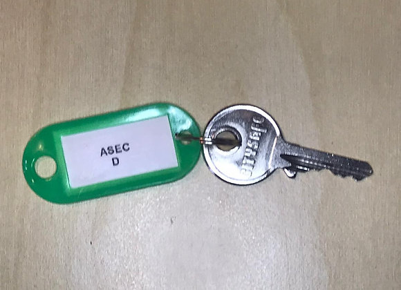 Asec Keyed Alike Replacement Padlock Key -D