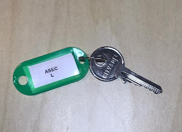 Asec Keyed Alike Replacement Padlock Key -L