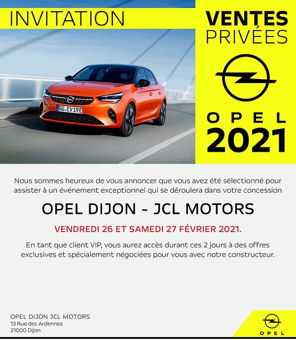 Campagne mail Opel 2021 Dijon - Landing.