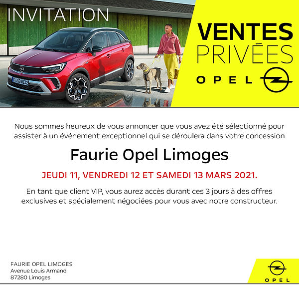 Campagne mail Opel 2021 OPEL LIMOGES  v2