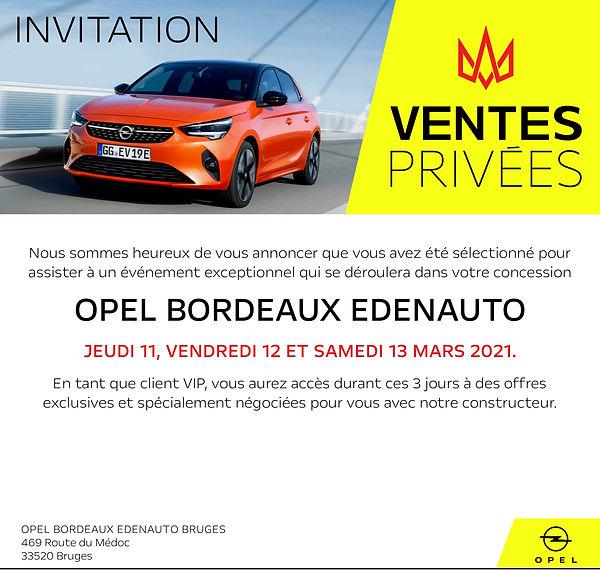 Campagne mail Opel 2021 OPEL BORDEAUX ED