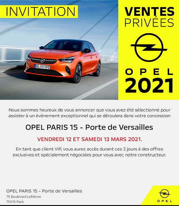 Campagne mail Opel Opel Paris 15 Porte d