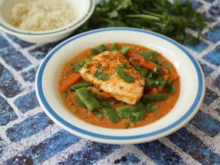 Curry thaï de poisson au lait de coco