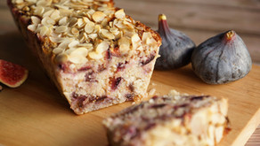 Cake figues/flocons d'avoine/amandes