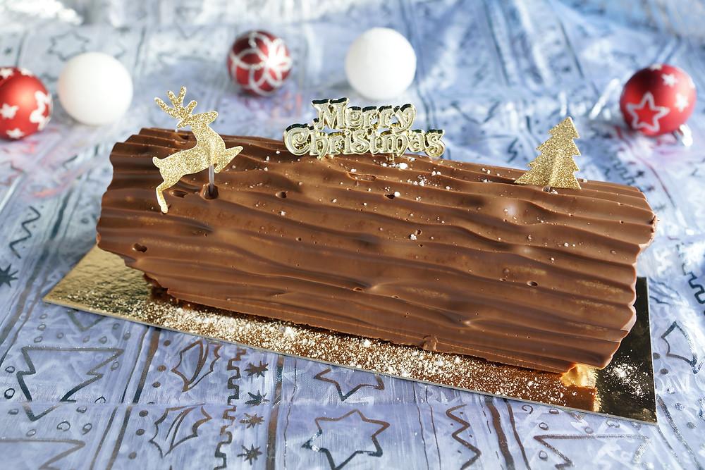 Bûche roulée vanille/chocolat