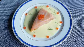 Mousse d'asperges au saumon fumé