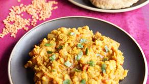 Dahl de lentilles corail au curry