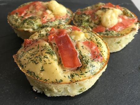 Muffins saumon fumé/poireaux