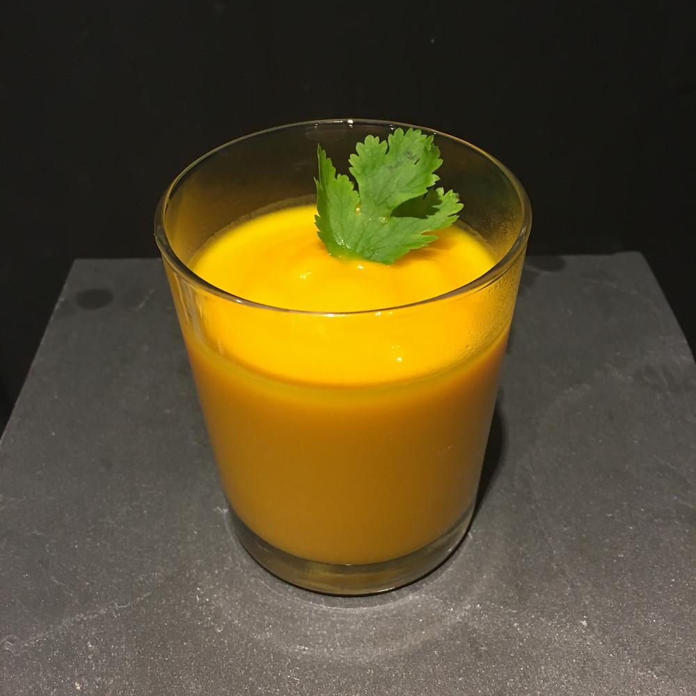 Velouté de carotte au lait de coco