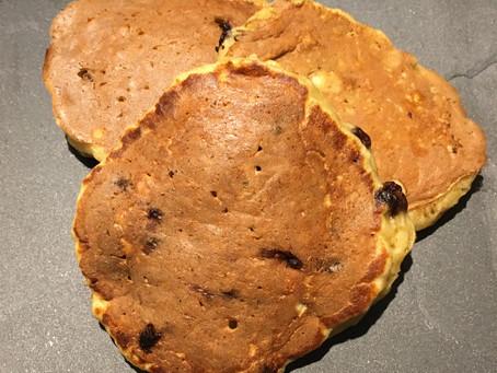 Pancakes pomme/pépites de chocolat