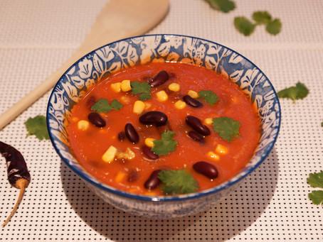 Soupe aux haricots rouges à la mexicaine