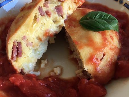 Bowlcake semoule bacon/chèvre