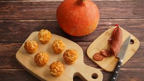Mini-muffins potiron/chorizo/comté
