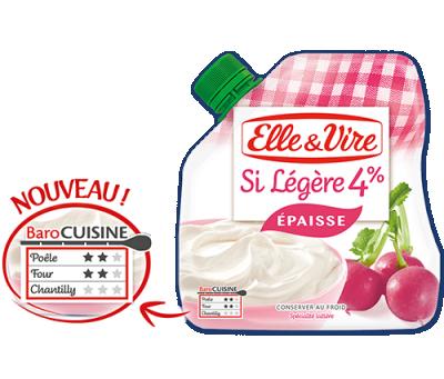 Crème épaisse Elle&Vire 4%