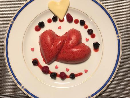 Recette sélectionnée par le Chef Simon du journal Le Monde - coeurs entrelacés à la fraise et au cho