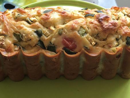 Cake feta/courgettes/tomates/menthe fraîche