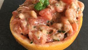 Crevette/pamplemousse/coriandre