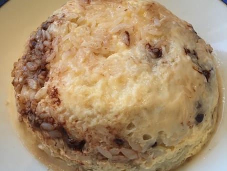 Bowlcake riz banane/chocolat