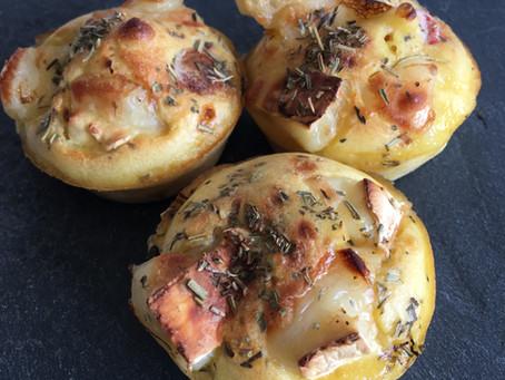 Muffins chèvre/tomates