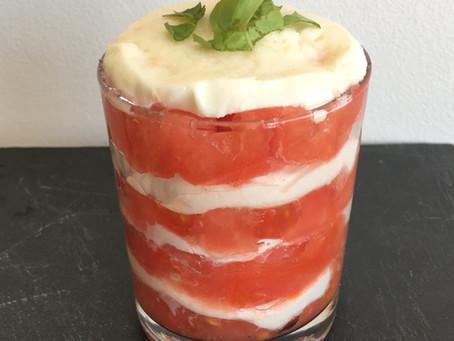 Verrine fraîcheur tomates/mozza