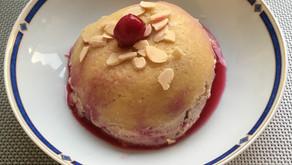 Bowlcake semoule griottes/amandes