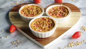 Tartelettes fraises/ricotta/pistaches