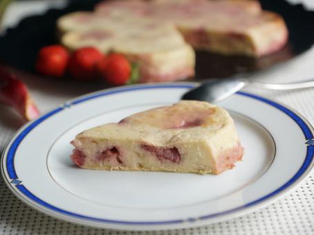 Clafoutis fraises/rhubarbe/amandes