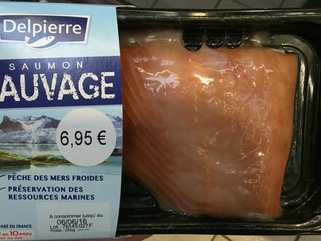 Le Saumon sauvage frais