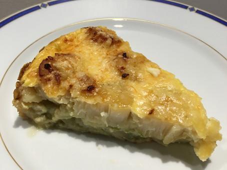 Quiche sans pâte noix de saint-jacques/poireaux