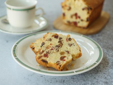 Cake aux fruits confits et aux raisins secs de Laurent Mariotte